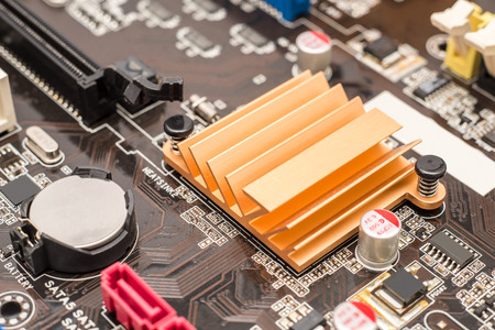 motherboard: Chipset Heatsink On Computer Motherboard