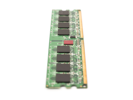 computer memory: RAM Computer Memory Chip Module Isolated On White