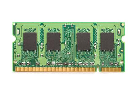 carnero: M�dulo de chip de memoria RAM del ordenador Aislado En Blanco