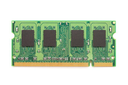 RAM Computer Memory Chip Module Isolated On White
