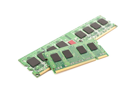 computer memory: RAM Computer Memory Chip Modules Isolated On White