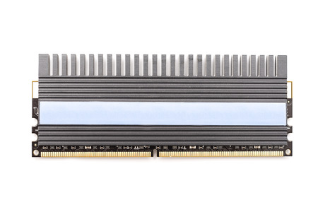 dimm: RAM Computer Memory Chip Module With Heatsink Isolated Stock Photo