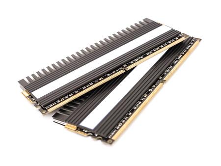 ram: RAM Computer Memory Chip Modules With Heatsink Isolated Stock Photo