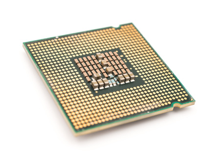 computer cpu: Computer CPU Chip Isolated