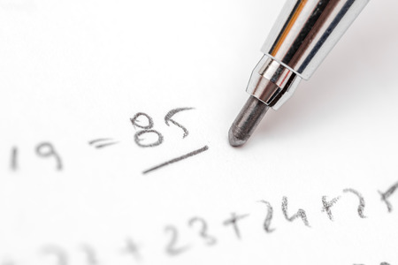 resolving: Resolving Algebra Equations Test On Paper With Pencil