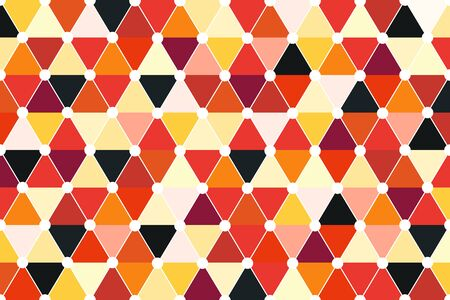 color palette: Quincunx Seamless Triangle Pattern Vector With Retro Color Palette