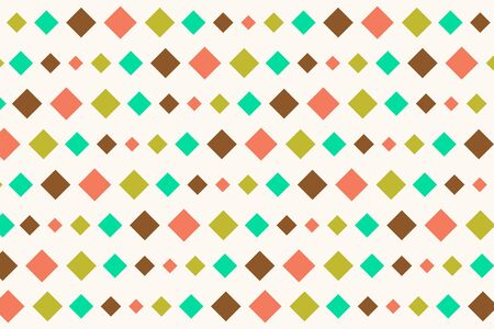 nostalgy: Retro Diamonds Seamless Abstract Pattern