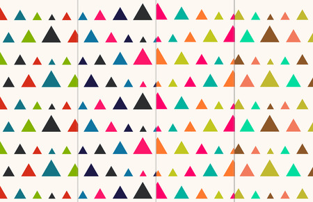 nostalgy: Retro Triangles Seamless Abstract Pattern Collection Set