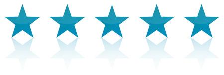 レトロな青い 5 つ星製品品質評価