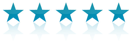 five star: Retro Blue Five Star Product Quality Rating