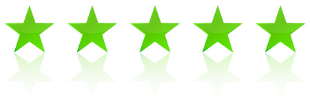 five star: Retro Green Five Star Product Quality Rating