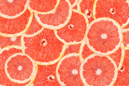 Grapefruit Slice Abstract Seamless Pattern
