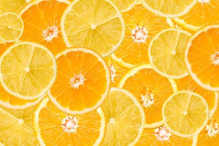 Orange And Lemon Slice Abstract Seamless Pattern Archivio Fotografico