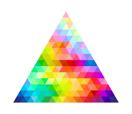 삼각형 색상 팔레트 가이드 스펙트럼 벡터