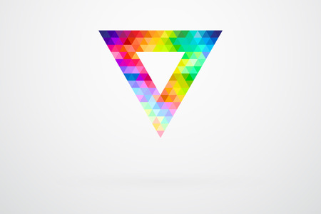 guide: Triangle Color Palette Guide Spectrum Vector