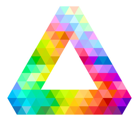 picker: Impossible Triangle Of Tribar Color Palette Guide Spectrum Vector Illustration