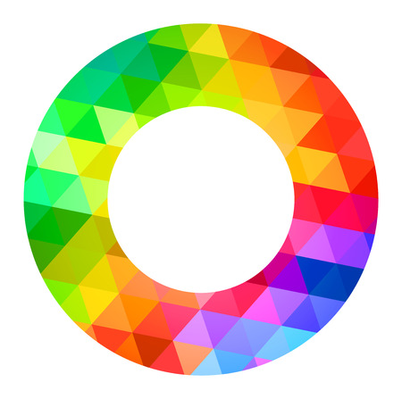 color guide: Donut Circle Color Palette Guide Spectrum Vector