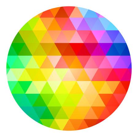 color palette: Circle Color Palette Guide Spectrum Vector Illustration
