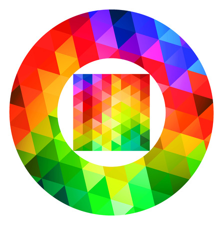 color guide: Circle And Square Color Palette Guide Spectrum Vector