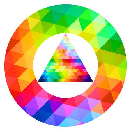 color guide: Circle And Triangle Color Palette Guide Spectrum Vector