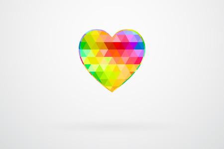 picker: Heart Color Palette Guide Spectrum Vector Illustration