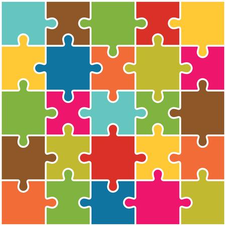 Jigsaw Puzzle Antecedentes Piezas Vector Foto de archivo - 38160456