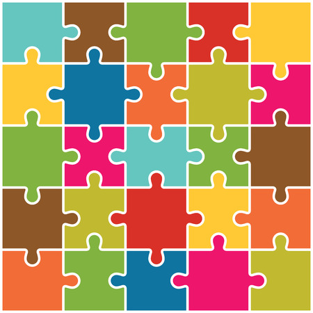 Jigsaw Puzzle Pieces Background Vector Imagens - 38160456