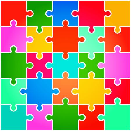 Stukken van de puzzel achtergrond vector Stock Illustratie