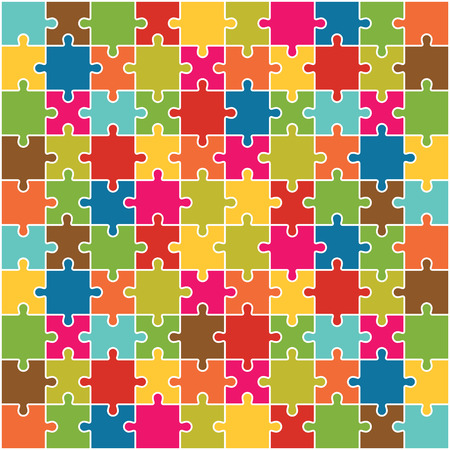 puzzle background: Jigsaw Puzzle Pieces Background Vector