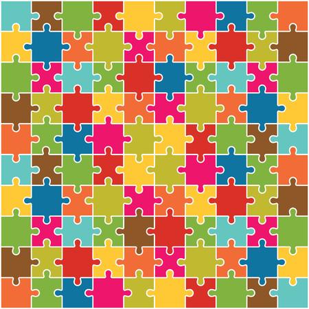 puzzle pieces: Jigsaw Puzzle Pieces Background Vector