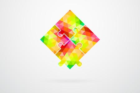 color samples: Color Palette Jigsaw Puzzle Pieces Vector