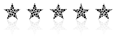 five star: Five Star Product Quality Rating With Reflection Illustration