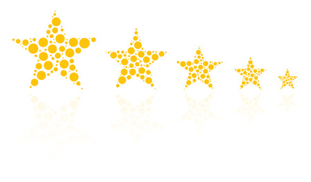 star product: Five Star Product Quality Rating With Reflection Illustration