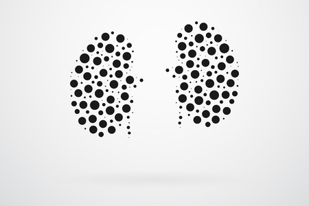 dialysis: Human Kidneys Abstract Vector Illustration
