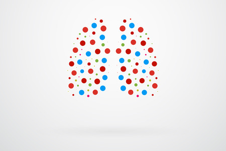lung transplant: Human Lungs Abstract Vector