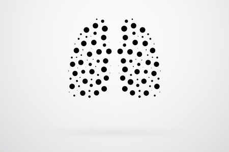 human lungs: Human Lungs Abstract Vector