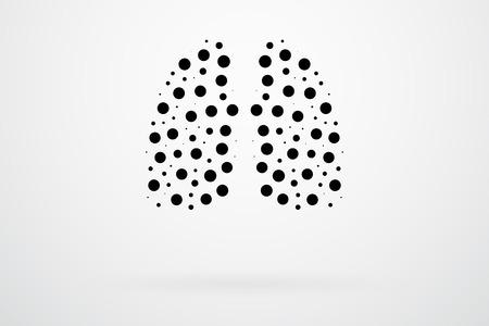alveolos: Pulmones Humanos Resumen Vector Vectores