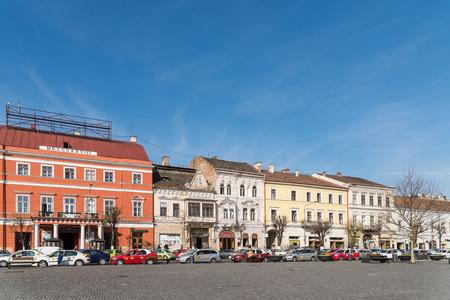 napoca: CLUJ NAPOCA, ROMANIA - APRIL 16, 2015: Vintage Architecture Downtown In The Old Center Of Cluj Napoca.