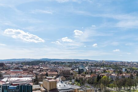 high view: High View Of Cluj Napoca City In Romania