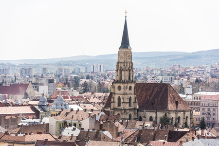 cluj: High View Of Cluj Napoca City In Romania