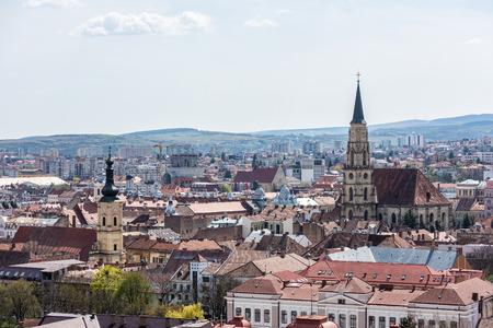 Alta Vista Della Cluj Napoca città in Romania Archivio Fotografico - 39347281