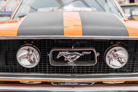 BUCHAREST, ROMANIA - APRIL 25, 2015: Ford Mustang is an automobile manufactured by the Ford Motor Company and was introduced on April 17, 1964. Editorial