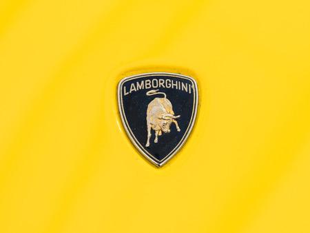 lamborghini: BUCHAREST, ROMANIA - APRIL 25, 2015: From 1963 Automobili Lamborghini is an Italian brand and manufacturer of luxury sports cars.