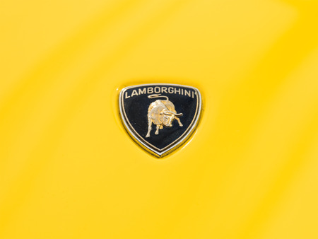 lamborghini: BUCHAREST, ROMANIA - APRIL 25, 2015: From 1963 Automobili Lamborghini is an Italian brand and manufacturer of luxury sports cars.