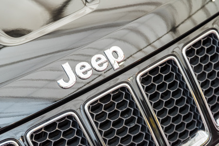 jeep: BUCHAREST ROMANIA  APRIL 26 2015: Jeep is a brand of American automobiles that produce solely of sport utility vehicles and offroad vehicles but has also included pickup trucks in the past.