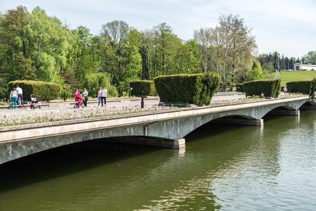 BUCHAREST ROMANIA  APRIL 28 2015: Built in 1906 Carol Park Or Liberty Park Parcul Carol sau Parcul Libertatii is a public park in Bucharest named after King Carol I of Romania.