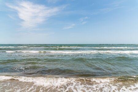 sea waves: The Black Sea Waves At Shoreline Stock Photo