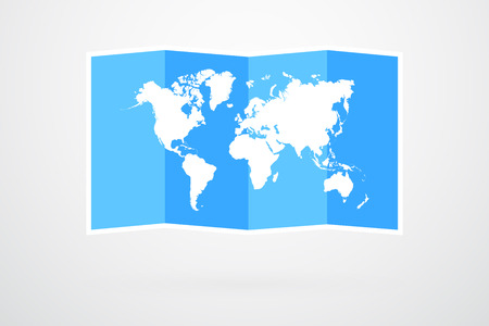 World Map Cardboard Vector