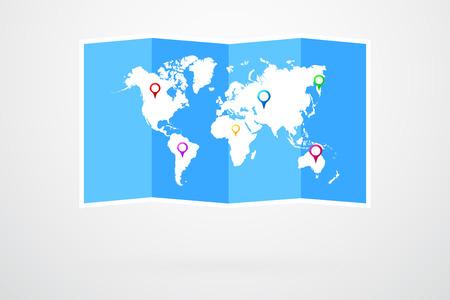world map vector: World Map Vector Infographic Illustration