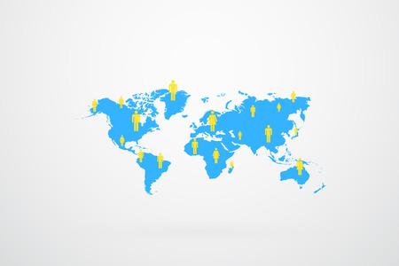 World Map Population  Vector